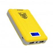 PINENG 10000MAH PN933 DUAL PORTS POWER BANK - YELLOW/WHITE