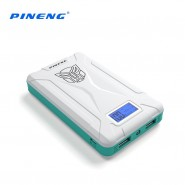 PINENG 10000MAH PN933 DUAL PORTS POWER BANK - WHITE/BLUE
