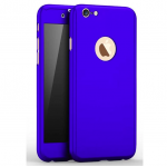 iPhone 5 / 5s / SE 360 Full Body Protection Case + Tempered Glass - Blue
