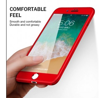 IPHONE 5 5S SE 6 6+ 6S+ 7 7+ 360 DEGREE FULL BODY PROTECTION CASE + TEMPERED GLASS SCREEN PROTECTOR