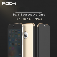 Rock Dr V Series Flip Cover For Apple iPhone 7 - Gold