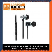 AVANTREE LOYA ADHF-015-BLG METAL BASS EARPHONES W/ MIC