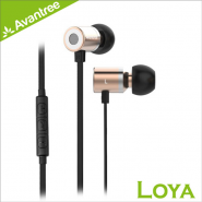 AVANTREE LOYA ADHF-015-CHP METAL BASS EARPHONES W/ MIC