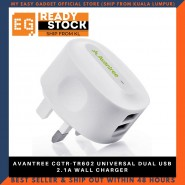 AVANTREE CGTR-TR602 UNIVERSAL DUAL USB 2.1A WALL CHARGER