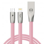 MCDODO CA-1873 120CM ZN-LINK 2 IN 1 LIGHTNING MICRO CABLE - PINK
