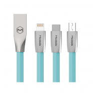 MCDODO CA-1882 120CM ZN-LINK 3 IN 1 TYPE-C LIGHTNING MICRO USB CABLE - BLUE