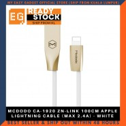 MCDODO CA-1920 ZN-LINK 100CM APPLE LIGHTNING CABLE (MAX 2.4A) - WHITE