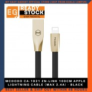 MCDODO CA-1921 ZN-LINK 100CM APPLE LIGHTNING CABLE (MAX 2.4A) - BLACK