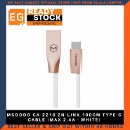 MCDODO CA-2210 ZN-LINK 100CM TYPE-C CABLE (MAX 2.4A - WHITE)