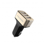 MCDODO CC-2230 5.2A CAR CHARGER WITH 3 USB PORTS - GOLD