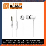 MCDODO MHP-0541 MX100 HEADPHONE EARPHONE VOLUME CONTROL & MICROPHONE
