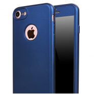 360 SOFT MATTE FULL BODY PROTECTION CASE COVER APPLE IPHONE 7 - BLUE