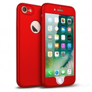 360 SOFT MATTE FULL BODY PROTECTION CASE COVER APPLE IPHONE 7 - RED