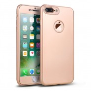 360 SOFT MATTE FULL BODY PROTECTION CASE COVER APPLE IPHONE 7 PLUS  - GOLD