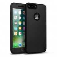 360 SOFT MATTE FULL BODY PROTECTION CASE COVER APPLE IPHONE 7 PLUS  - BLACK