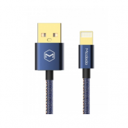 MCDODO CA-1730 1.2 METER 2.4A DENIM COVER IPHONE LIGHTNING CABLE - BLUE
