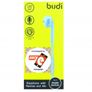 BUDI M8J101EP 1.2 METER EARPHONE WITH REMOTE AND MIC - WHITE