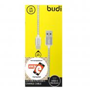 BUDI M8J172T 1 METER METAL SPRING TYPE-C USB CABLE - SILVER