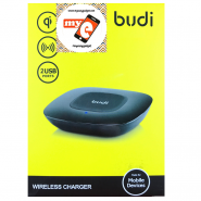 BUDI MG3A2000 WIRELESS CHARGER WITH 2 USB PORTS - BLACK