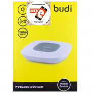 BUDI MG3A2000 WIRELESS CHARGER WITH 2 USB PORTS - WHITE