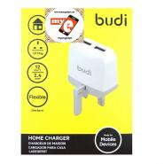 BUDI M8J940U 2.4A 2 USB HOME CHARGER - WHITE