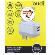 BUDI M8J030U 2.4A 2 USB HOME TIMER CHARGER - WHITE