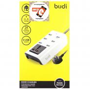 BUDI M8J302U 4.8A 6 USB HOME CHARGER WITH SOCKET - WHITE