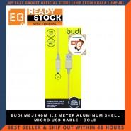 BUDI M8J146M 1.2 METER ALUMINUM SHELL MICRO USB CABLE - GOLD