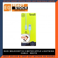 BUDI M8J023BT10 3 METER APPLE LIGHTNING CABLE - WHITE