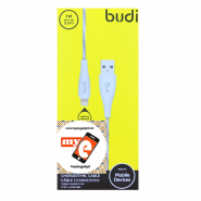BUDI M8J010L 1 METER APPLE LIGHTNING CABLE - WHITE