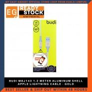 BUDI M8J143 1.2 METER ALUMINUM SHELL APPLE LIGHTNING CABLE - GOLD