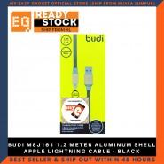 BUDI M8J161 1.2 METER ALUMINUM SHELL APPLE LIGHTNING CABLE - BLACK