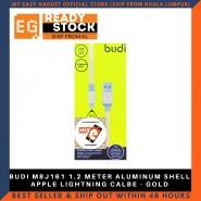 BUDI M8J161 1.2 METER ALUMINUM SHELL APPLE LIGHTNING CALBE - GOLD