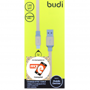 BUDI M8J161M 1.2 METER ALUMINUM SHELL MICRO USB CABLE - GOLD