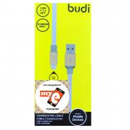 BUDI M8J161M 1.2 METER ALUMINUM SHELL MICRO USB CABLE - WHITE