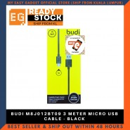 BUDI M8J012BT09 3 METER MICRO USB CABLE - BLACK