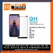 SAMSUNG GALAXY S8 , S8 PLUS, S9, S9 PLUS, NOTE 8, NOTE 9 TEMPERED GLASS SCREEN PROTECTOR