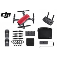 DJI SPARK DRONE FLY MORE COMBO - LAVA RED - 1 YEAR DJI MALAYSIA WARRANTY