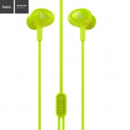 ORIGINAL HOCO M3 UNIVERSAL IN-EAR EARPHONE WITH REMOTE AND MIC 1.2 METER - GREEN
