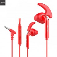 ORIGINAL HOCO M6 SPORTS IN-EAR EARPHONE WITH REMOTE AND MIC 1.2 METER - RED
