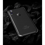APPLE IPHONE X ROCK FENCE S SERIES PROTECTION CASE - BLACK TRANSPARENT