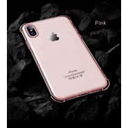 APPLE IPHONE X ROCK FENCE S SERIES PROTECTION CASE - PINK TRANSPARENT