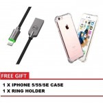 MCDODO CA-3901 KNIGHT 1.2 METER LIGHTNING AUTO DISCONNECT DATA CABLE + IPHONE 5/5S/SE CASE