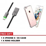 MCDODO CA-3901 KNIGHT 1.2 METER LIGHTNING AUTO DISCONNECT DATA CABLE + IPHONE 6 / 6S CASE
