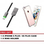 MCDODO CA-3901 KNIGHT 1.2 METER LIGHTNING AUTO DISCONNECT DATA CABLE + IPHONE 6 PLUS / 6S PLUS CASE