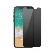 APPLE IPHONE X HD 9H PRIVACY TEMPERED GLASS - BLACK