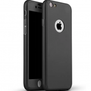 iPhone 6/6s 360 Full Body Protection Case + Tempered Glass - Black