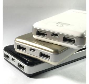 ViViS Dual USB Port 12000mAh Mobile Power Bank - White