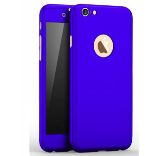 iPhone 8 360 Full Body Protection Case + Tempered Glass - Blue