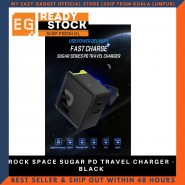 ROCK SPACE SUGAR PD TRAVEL CHARGER - BLACK